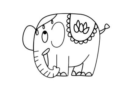 大象怎么画最简单,大象简笔画 初级简笔画教程-第12张