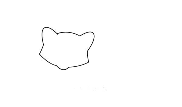浣熊怎么画简笔画简朴又漂亮 中级简笔画教程-第3张