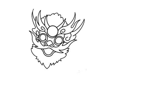 年兽简笔画,年兽怎么画 动物-第5张