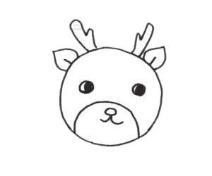 梅花鹿儿童简笔画线稿图片 中级简笔画教程-第3张