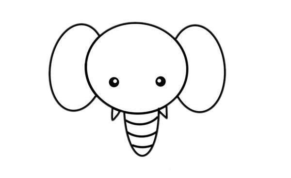 大象儿童简笔画画法 初级简笔画教程-第4张