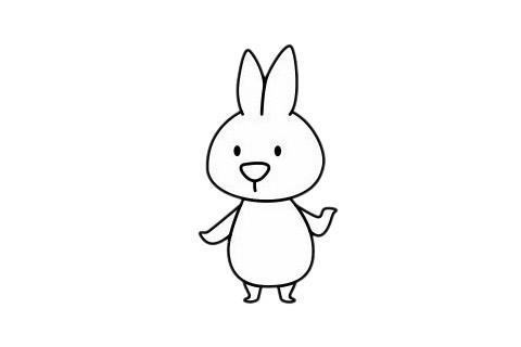 小白兔最简单的画法教程 初级简笔画教程-第1张