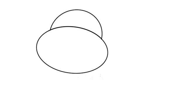 卡通河马简笔画,彩色q版河马简笔画 初级简笔画教程-第2张