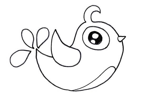 喜鹊简笔画彩色画法 中级简笔画教程-第4张