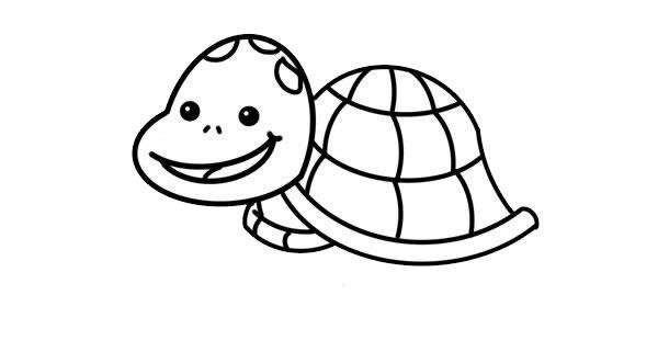 卡通乌龟简笔画彩色画法 中级简笔画教程-第5张