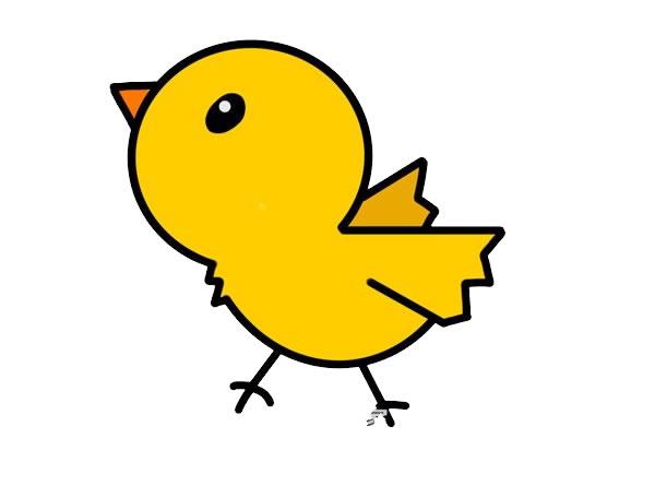 小鸡简笔画,儿童简笔画画法小鸡 中级简笔画教程-第1张