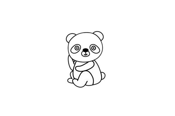 怎么画熊猫简单画法 初级简笔画教程-第7张