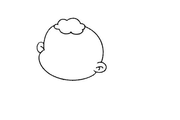 简单九步学画小婴儿简笔画 中级简笔画教程-第3张
