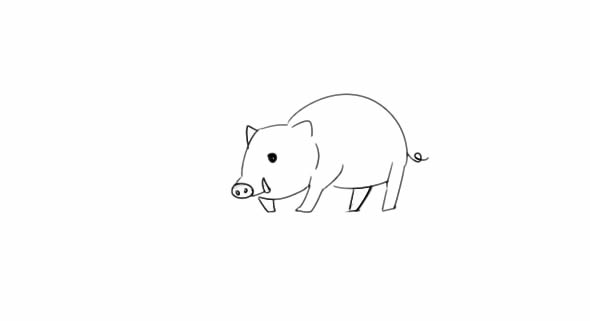 豪猪怎么画,豪猪简笔画图片 动物-第5张