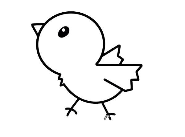 小鸡简笔画,儿童简笔画画法小鸡 中级简笔画教程-第4张