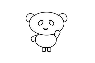 怎么画熊猫简单画法 初级简笔画教程-第12张