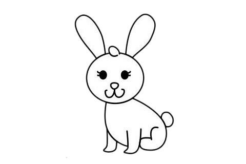 小白兔最简单的画法教程 初级简笔画教程-第9张