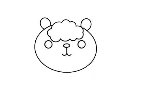卡通羊驼简笔画步骤图解教程 中级简笔画教程-第3张