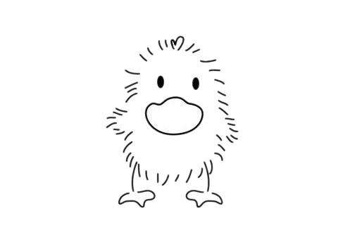 小鸭子怎么画,简单的小鸭子简笔画 初级简笔画教程-第11张