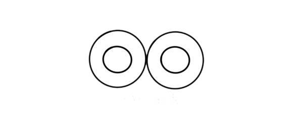 猫头鹰怎么画 可爱呆萌猫头鹰简笔画步骤图解教程 中级简笔画教程-第3张