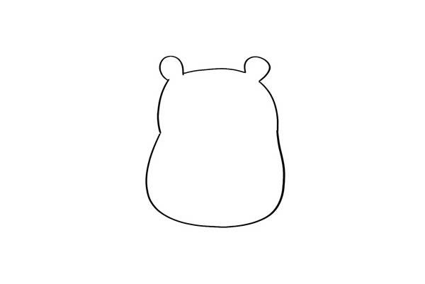 超萌可爱小仓鼠简笔画 卡通仓鼠简笔画彩色画法 中级简笔画教程-第2张