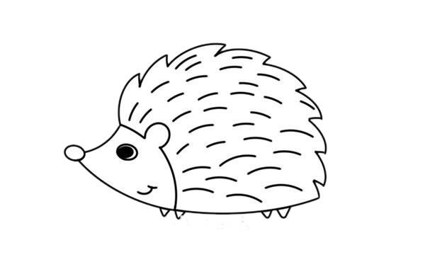 刺猬怎么画,小刺猬儿童简笔画 初级简笔画教程-第5张