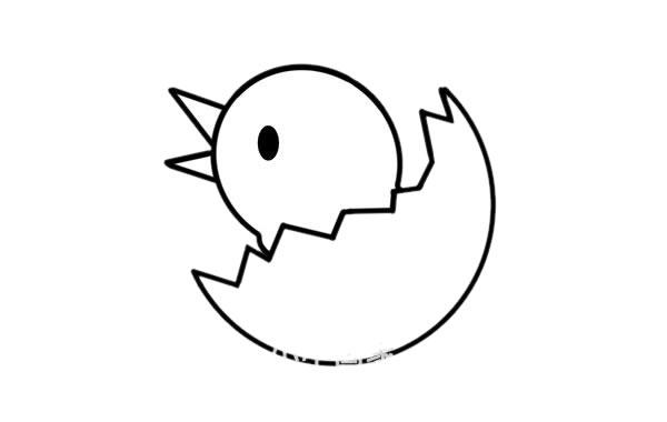 刚出生的小鸡简笔画画法 初级简笔画教程-第4张