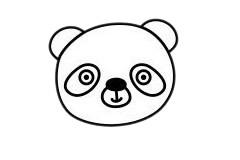 怎么画熊猫简单画法 初级简笔画教程-第4张