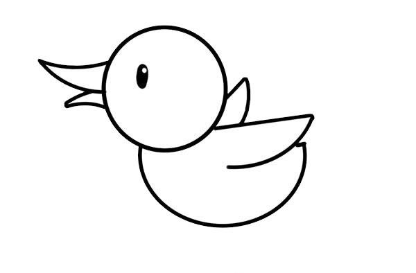 小鸭子简笔画彩色画法步骤步骤图片 中级简笔画教程-第5张