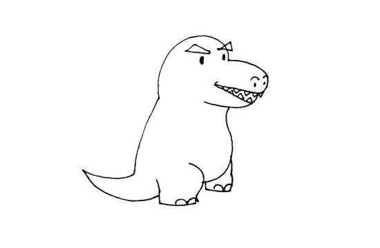 小怪兽简笔画画法步骤步骤图片 中级简笔画教程-第5张