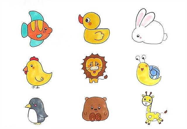 1到9数字画动物简笔画大全 动物-第1张