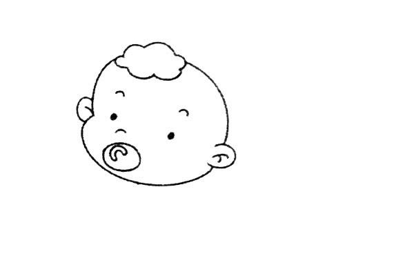 简单九步学画小婴儿简笔画 中级简笔画教程-第4张