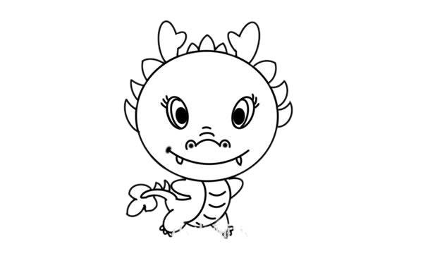中国龙简笔画图片 初级简笔画教程-第6张