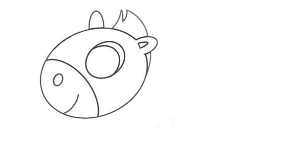 小马简笔画画法,儿童简笔画教程 初级简笔画教程-第4张