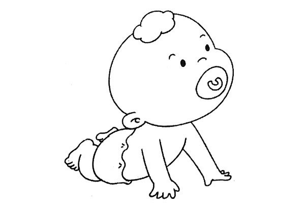 8款小婴儿简笔画大全可爱 人物-第7张