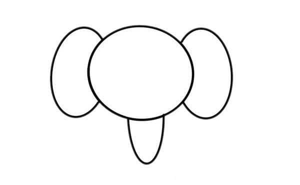 大象儿童简笔画画法 初级简笔画教程-第3张