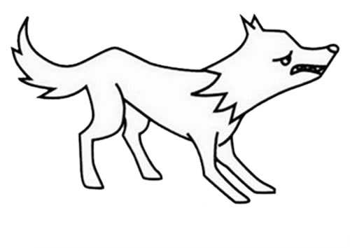 狼的简笔画 凶残 霸气 狼的超简单画法步骤 中级简笔画教程-第6张