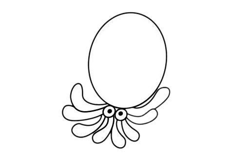 简单又漂亮的章鱼怎么画 初级简笔画教程-第12张