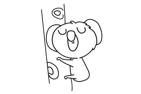 考拉简笔画简单画法 初级简笔画教程-第8张