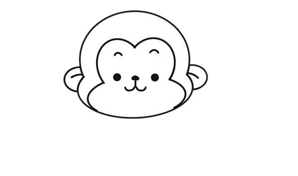 吃香蕉的猴子简笔画图片大全 动物-第4张