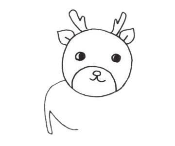 梅花鹿儿童简笔画线稿图片 中级简笔画教程-第4张