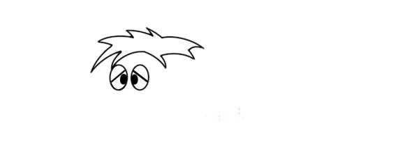 一步一步学画猛犸象儿童简笔画 中级简笔画教程-第3张