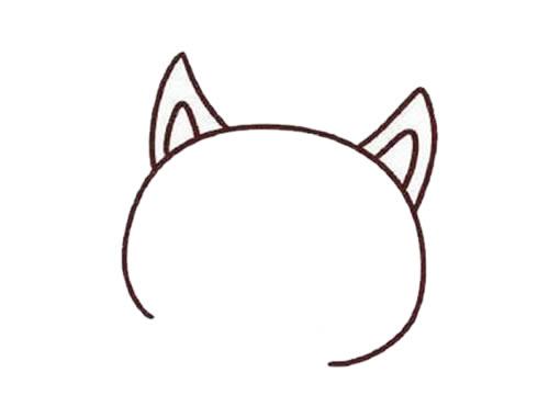 彩色可爱狐狸简笔画画法步骤步骤教程 动物-第2张