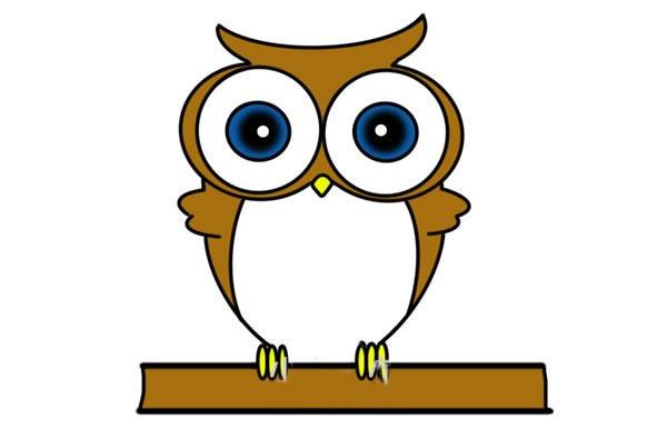 猫头鹰怎么画 可爱呆萌猫头鹰简笔画步骤图解教程 中级简笔画教程-第1张