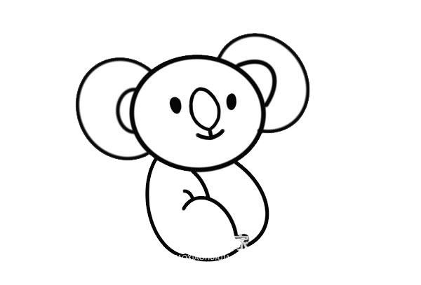 卡通考拉简笔画画法步骤步骤图片 中级简笔画教程-第5张