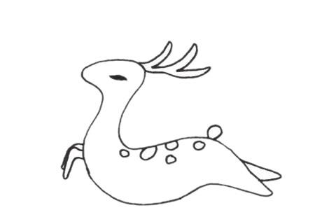 梅花鹿儿童简笔画线稿图片 中级简笔画教程-第11张