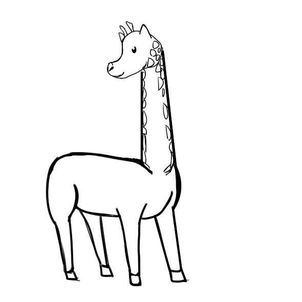 长颈鹿怎么画,长颈鹿儿童简笔画 动物-第5张