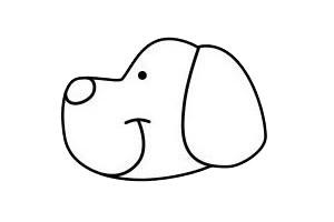 一步一步学画小狗简笔画 初级简笔画教程-第5张