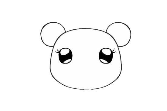 可爱的小熊姑娘简笔画画法步骤步骤图片 动物-第4张