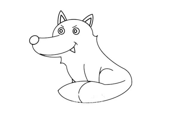 大灰狼怎么画,大灰狼儿童简笔画教程 初级简笔画教程-第6张
