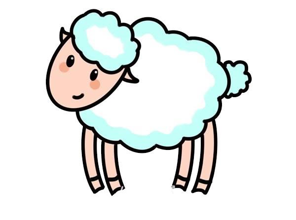 简笔画绵羊的画法步骤步骤图片 动物-第1张