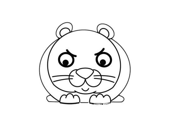 卡通q版花豹简笔画,猎豹简笔画 中级简笔画教程-第5张