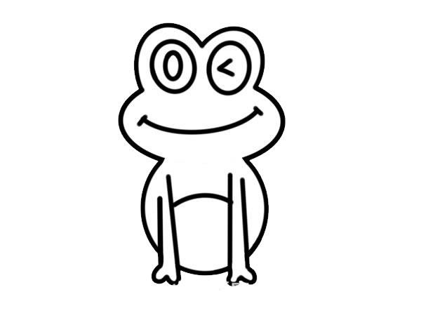 荷叶上的青蛙简笔画彩色 动物-第5张