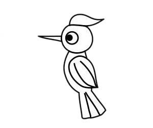 啄木鸟怎么画,儿童简笔画啄木鸟画法 中级简笔画教程-第6张