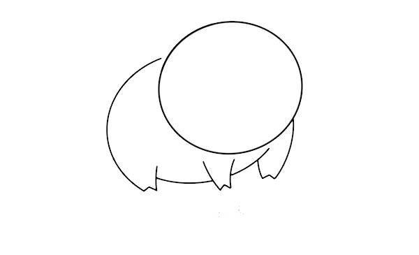 呆萌小猪简笔画图片 中级简笔画教程-第3张
